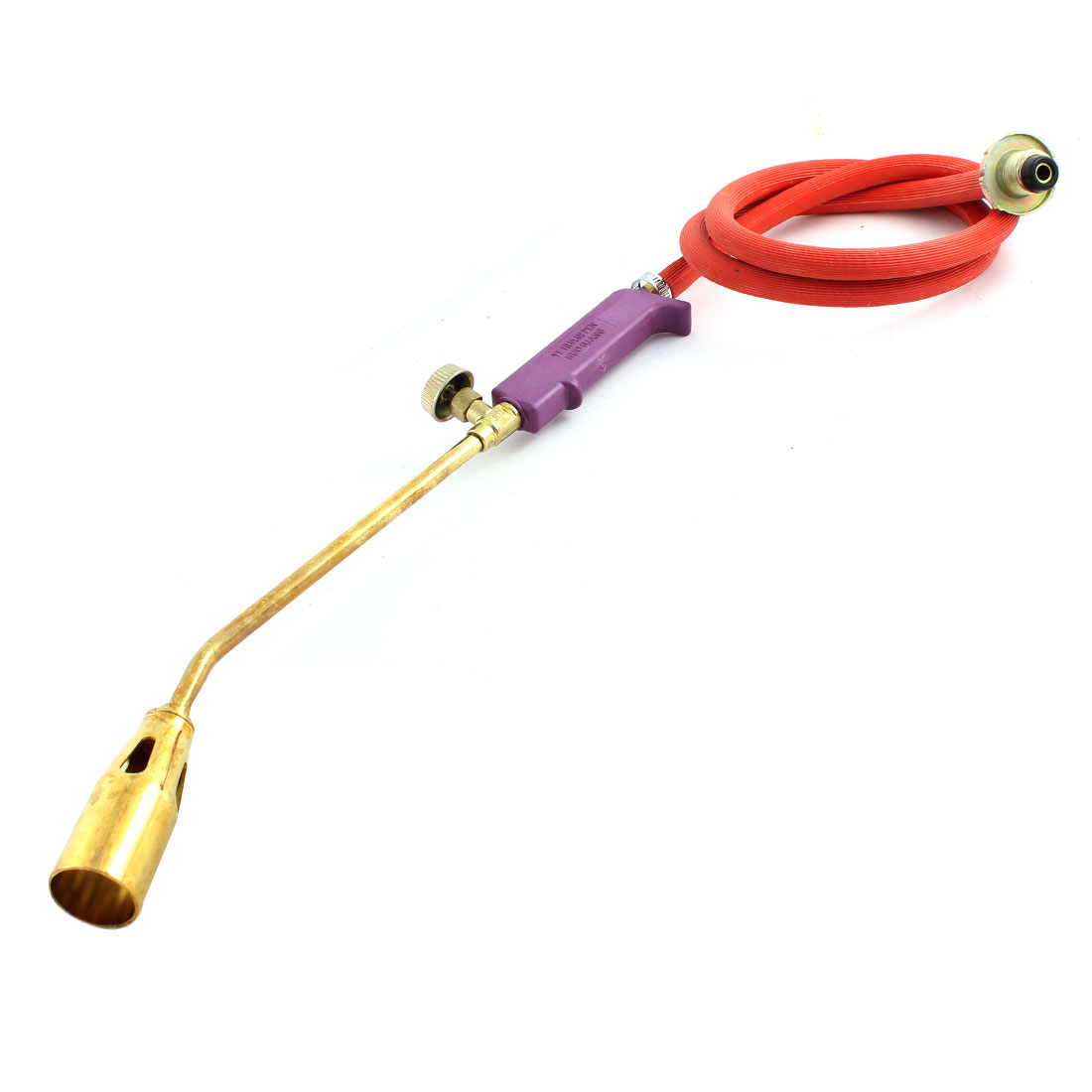 Purple Plastic Handle Liquefied Gas Blow Torch w Tube