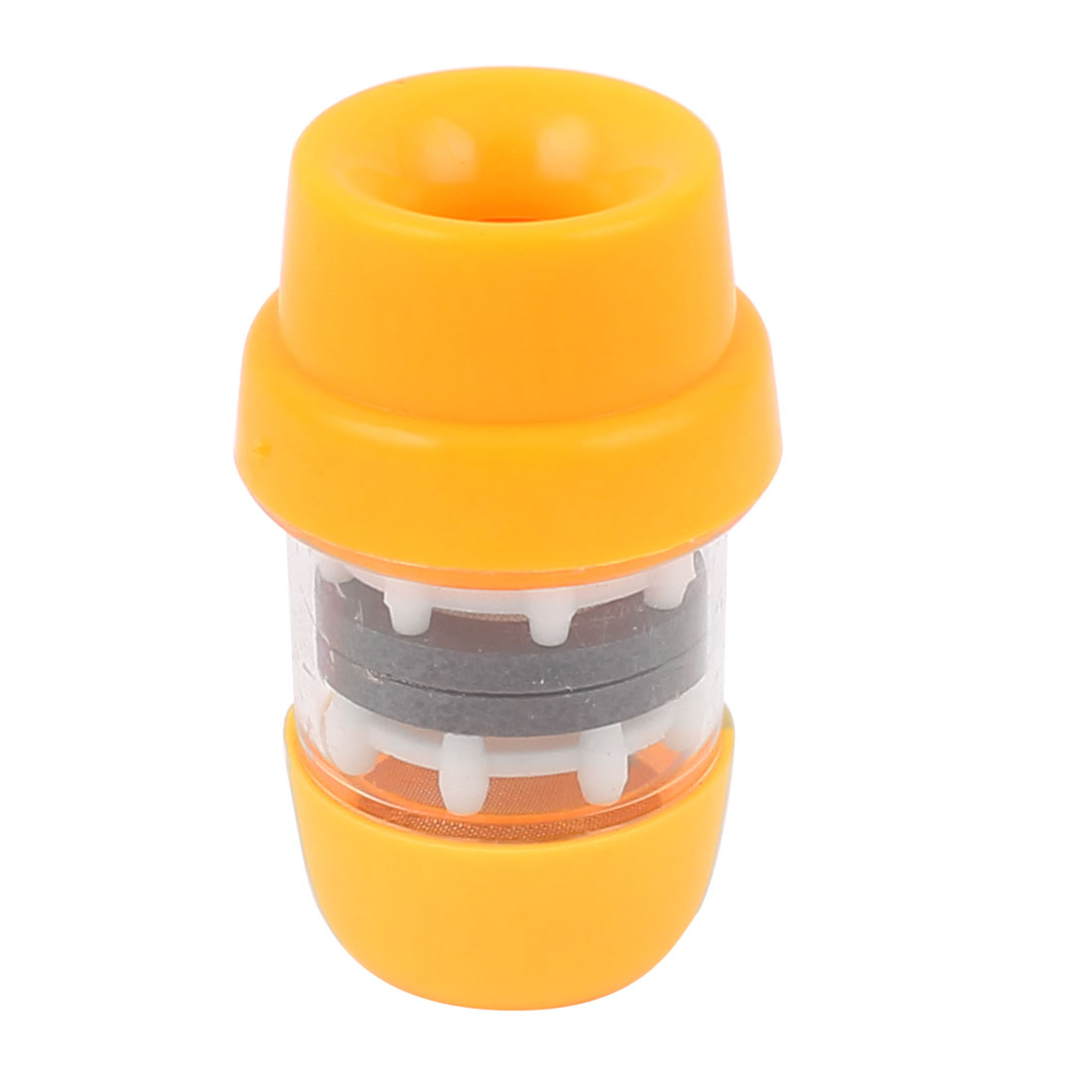 Household Water Tap Plastic Magnetized Filter Purifier Yellow