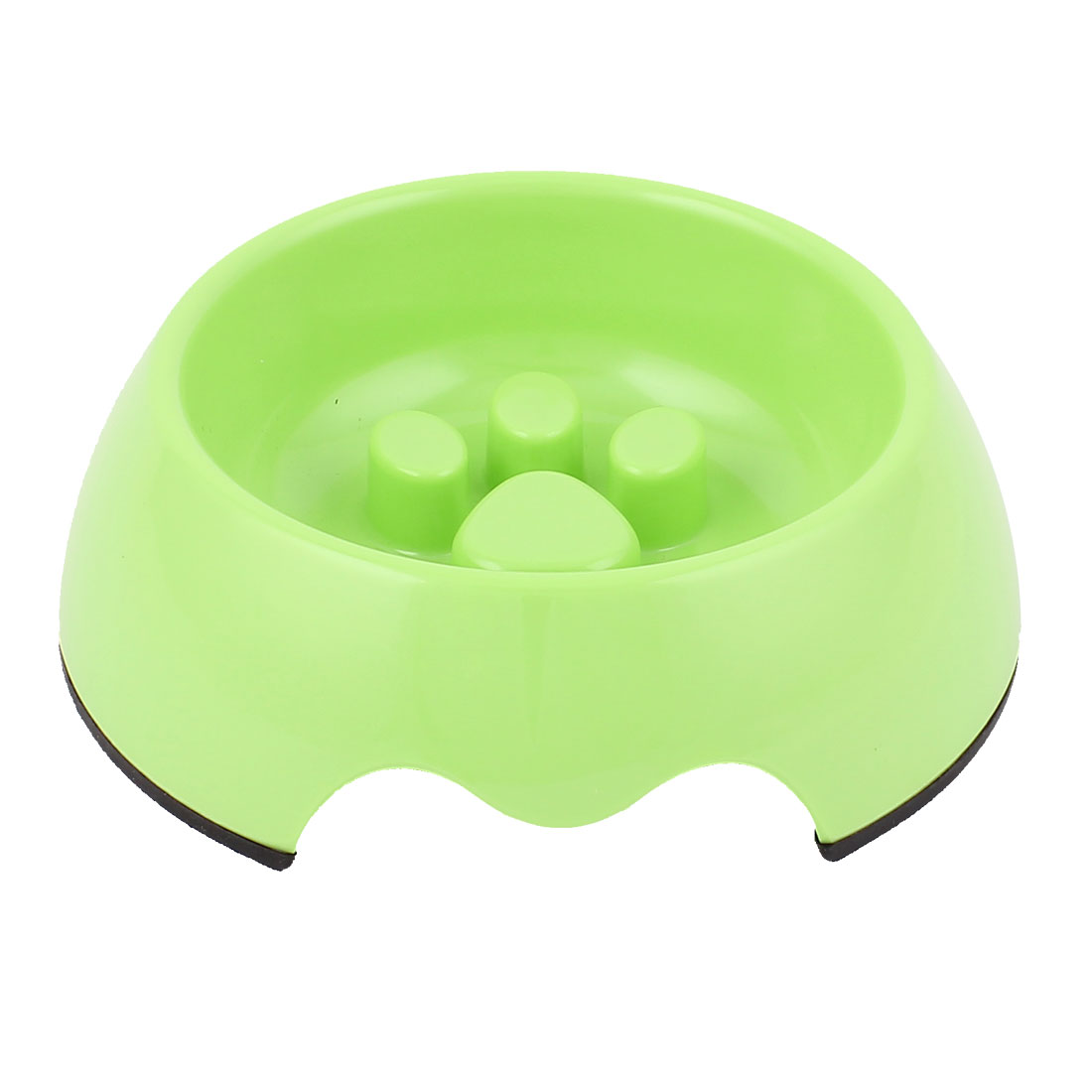 Plastic Pet Dog Puppy Stop Fast Slow Eating Bloat Food Feeder Bowl Green