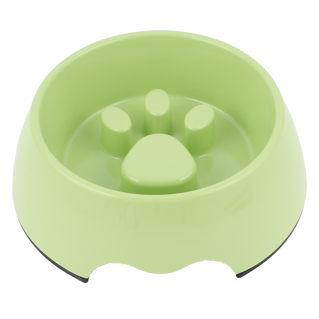 Plastic Pet Cat Puppy Stop Fast Slow Eating Bloat Dish Feeder Bowl Green