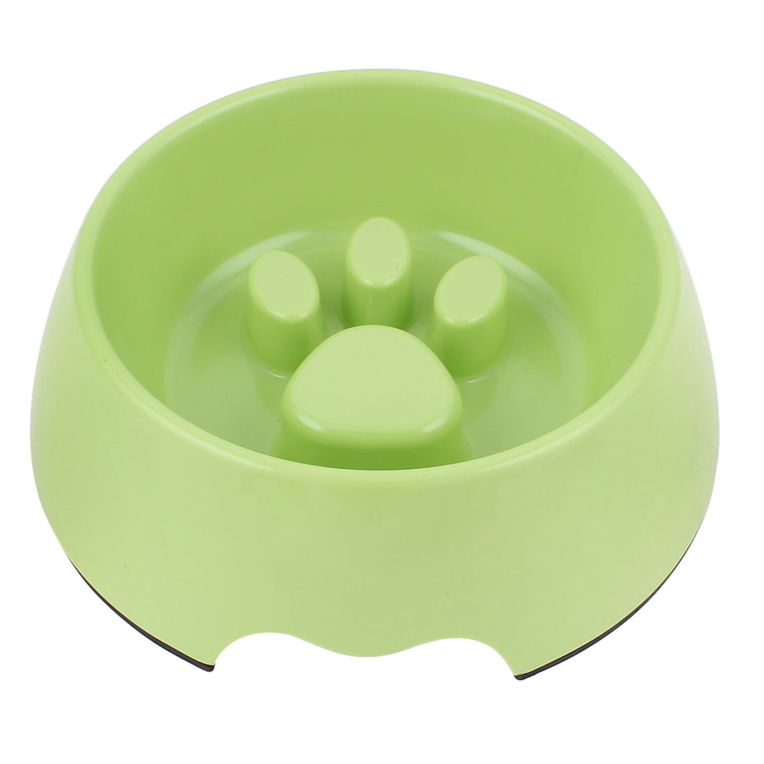 Plastic Pet Dog Puppy Stop Fast Slow Eating Bloat Dish Feeder Bowl Green