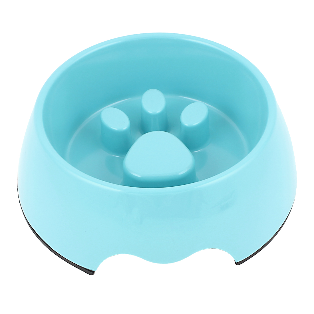 Plastic Pet Cat Puppy Stop Fast Slow Eating Bloat Dish Feeder Bowl Blue