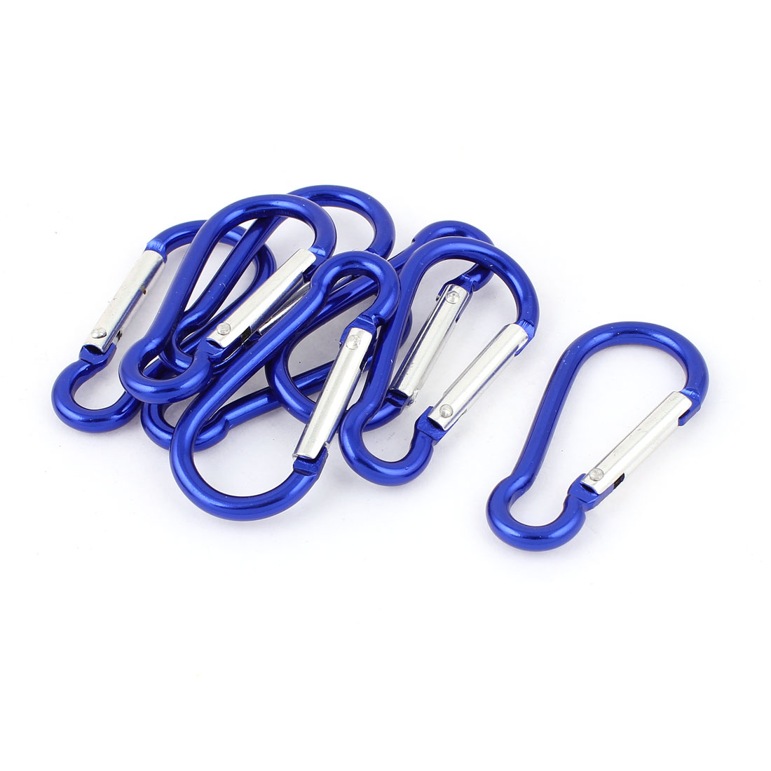 Cycling Hiking Spring Clip Snap Carabiner Hook Keychain Karabiner Bag Holder 8pcs Blue