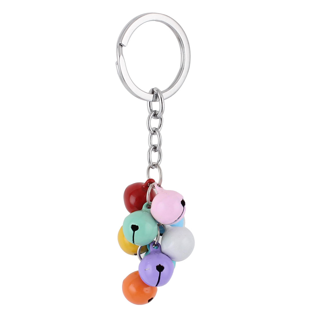 Metal Bells Pendant Keyring Keychain Key Holder Chain Purse Ornament Multicolor