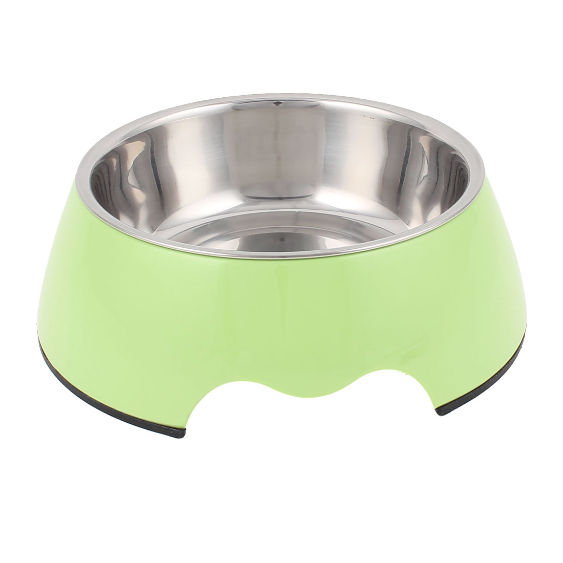 Pet Cat Dog Puppy Stainless Steel Dish Food Water Feeding Feeder Bowl Green