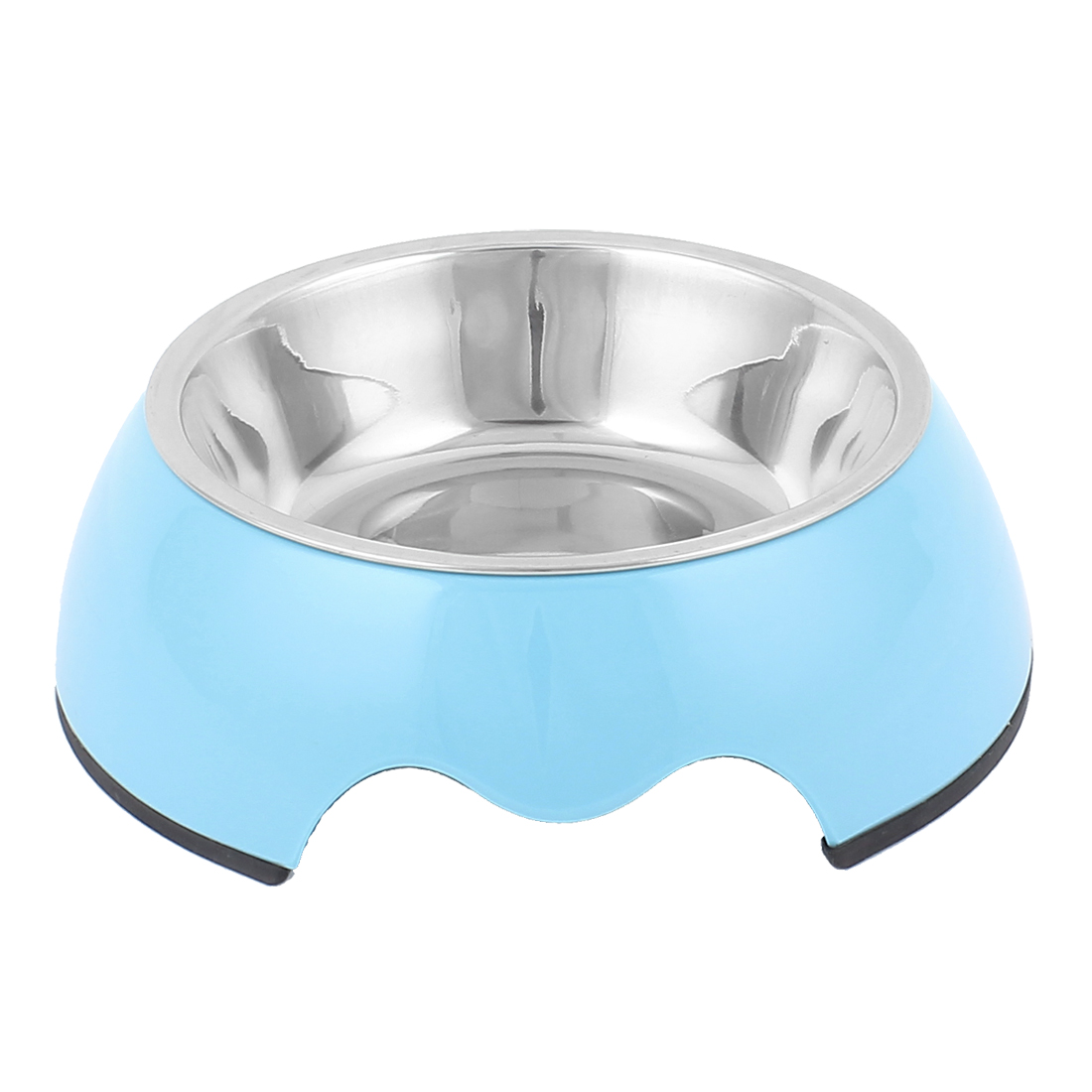 Pet Cat Dog Doggie Stainless Steel Dish Food Water Feeding Feeder Bowl Blue