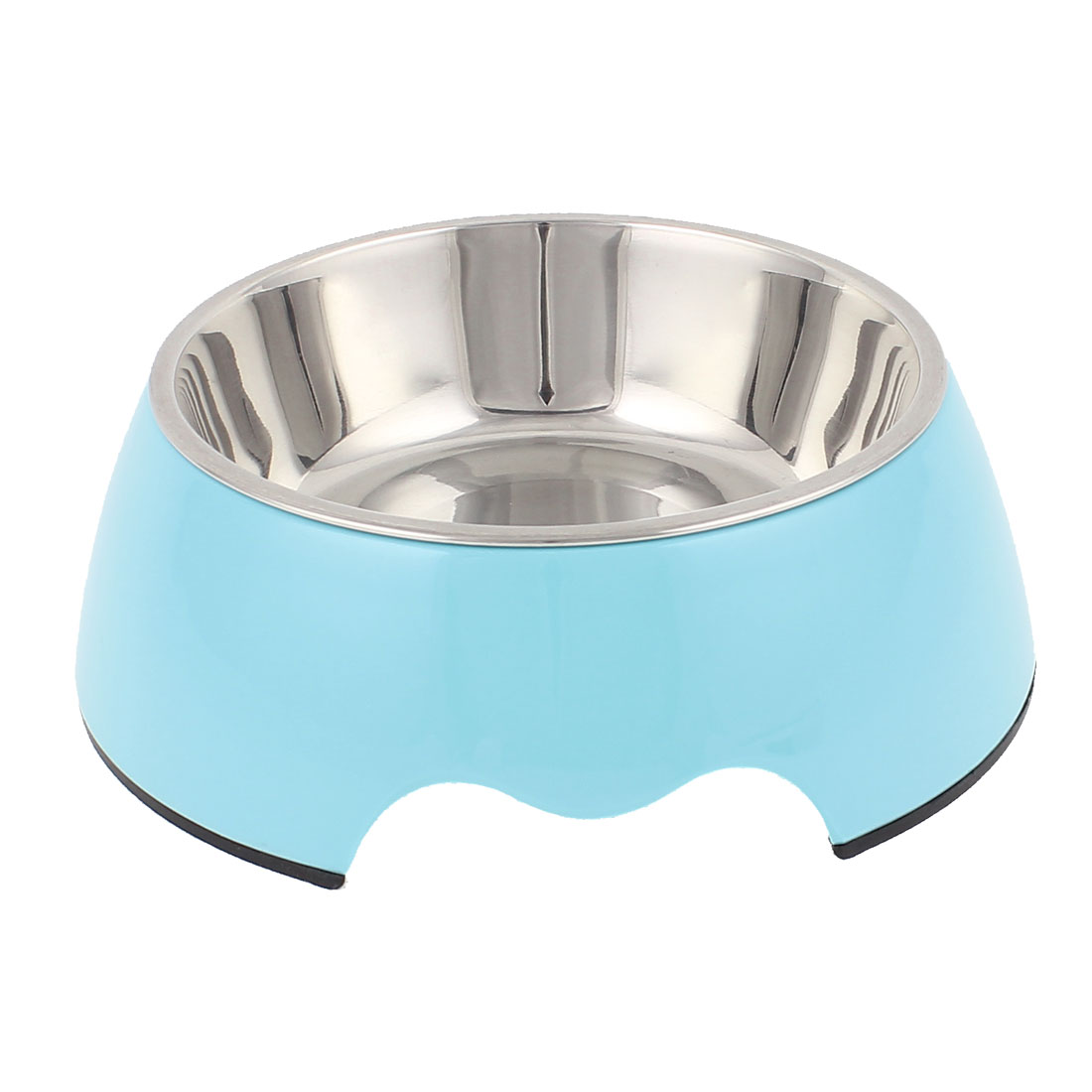 Pet Cat Dog Puppy Stainless Steel Dish Food Water Feeding Feeder Bowl Blue