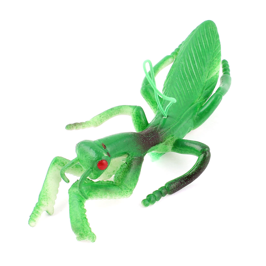 Green Rubber Mantis Shape Cel Phone MP3 MP4 Handbag Hang Strap String Charm Hanging Ornament