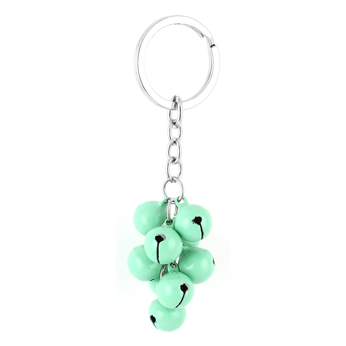 Green Metal Bells Pendant Keyring Keychain Key Chain Carrier Purse Bag Decoration Gift