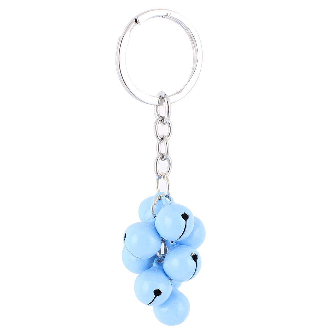 Sky Blue Metal Bells Pendant Keyring Keychain Key Chain Hanging Purse Bag Decoration Gift