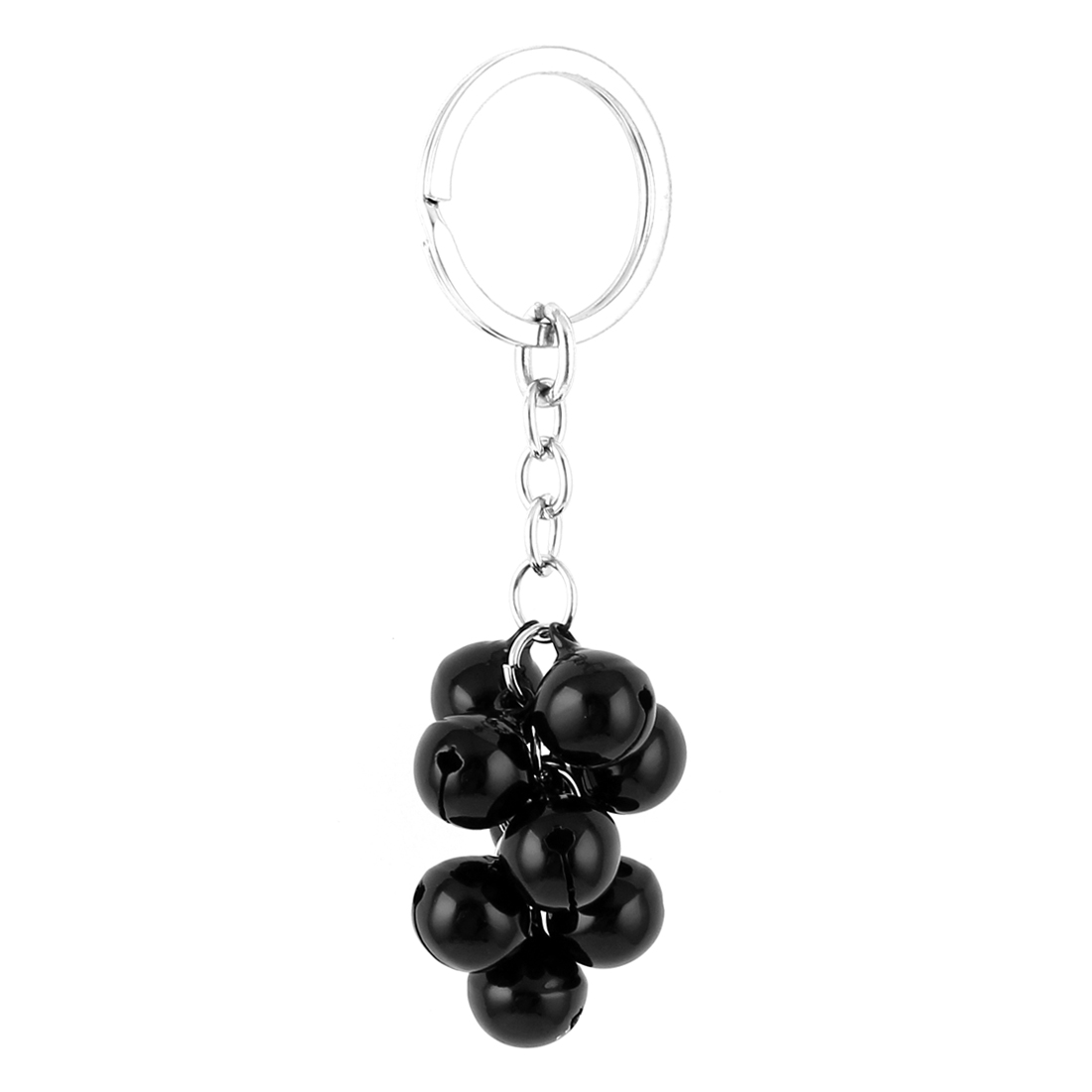 Black Metal Bells Pendant Split Ring Keyring Keychain Key Chain Handbag Purse Ornament