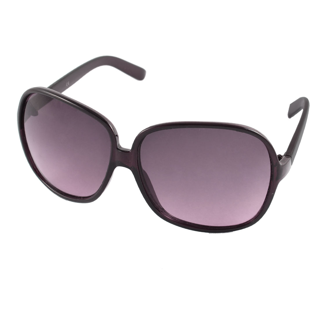 Plastic Oval Burgundy Lens Full Frame Single Bridge Sun Protective Sunglasses