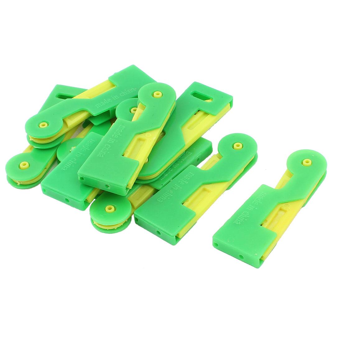 Elder Stitch Sew Hem Automatic Needle Threader Thread Guide Green Yellow 10pcs