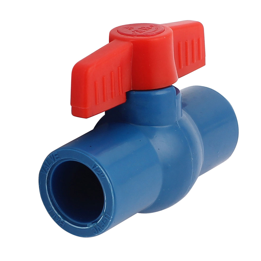 Water Pipe 20mm to 20mm Red Rotary Knob Plastic Tap Faucet Water Stop Valve