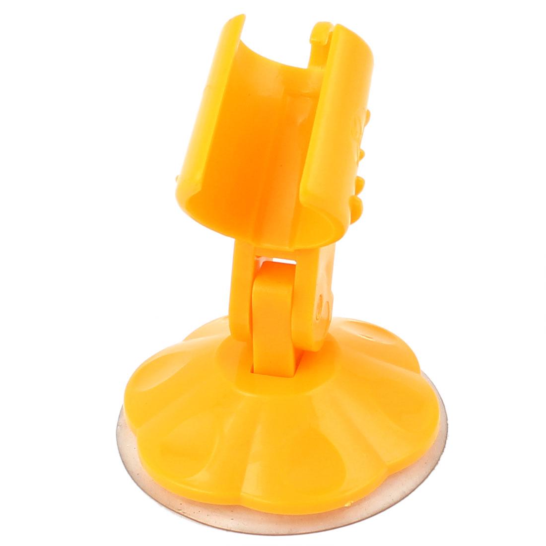 Adjustable Safe Bathroom Shower Head Suction Cup Grip Holder Orange