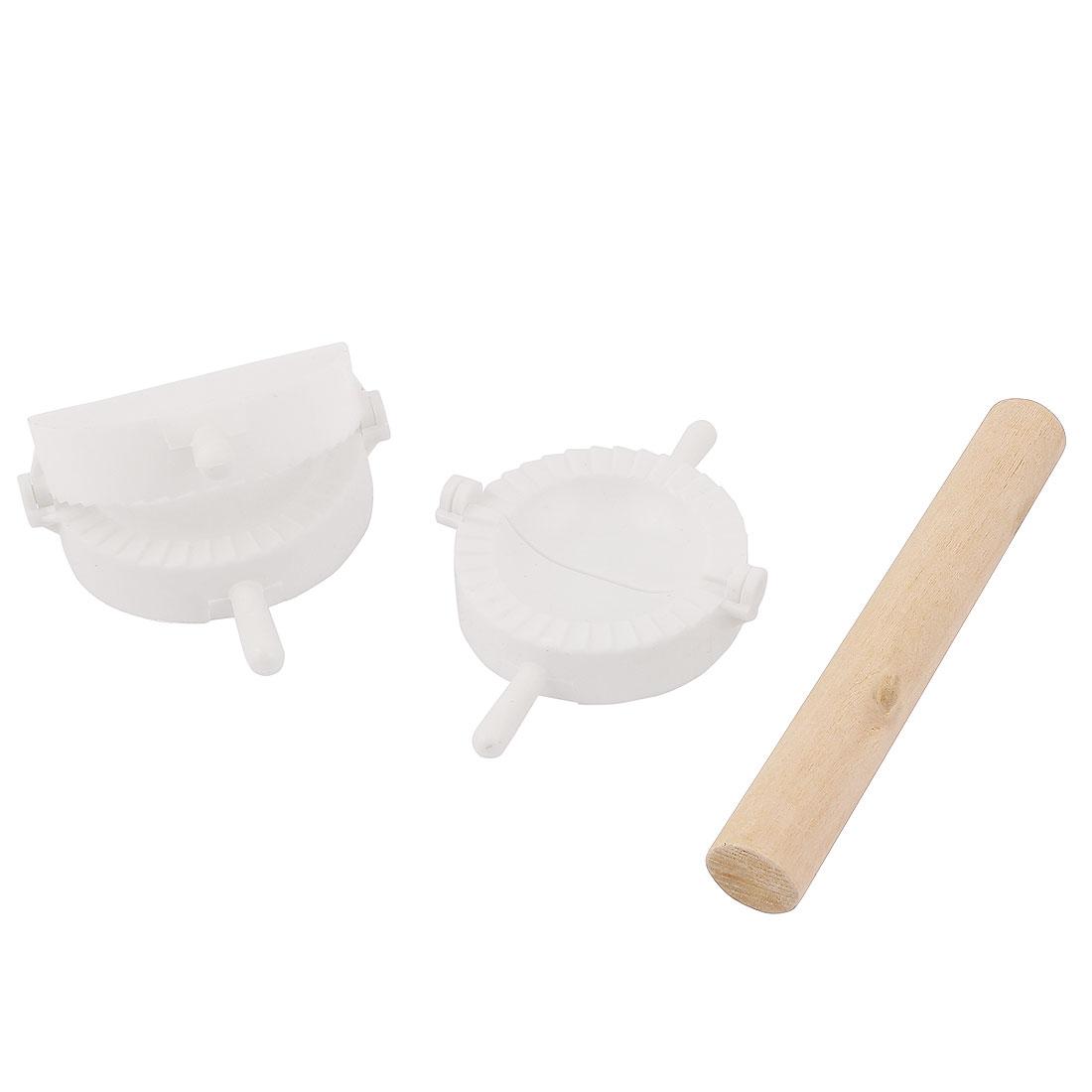 Dumpling Press Mold Pastry Ravioli Wonton DIY Maker Rolling Pin Set 3 in 1