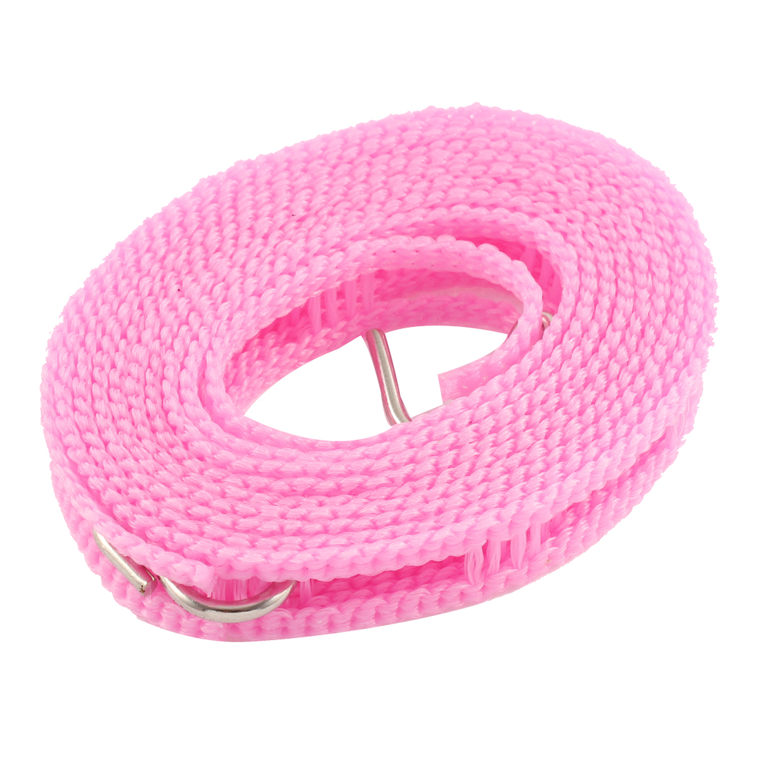 Home Portable Clothes Hanger Windproof Foldable Clothesline Pink 2M 6 Feet