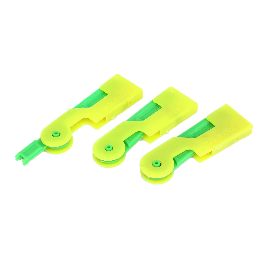 3pcs Press Sewing Automatic Needle Threader Inserter Yellow Green
