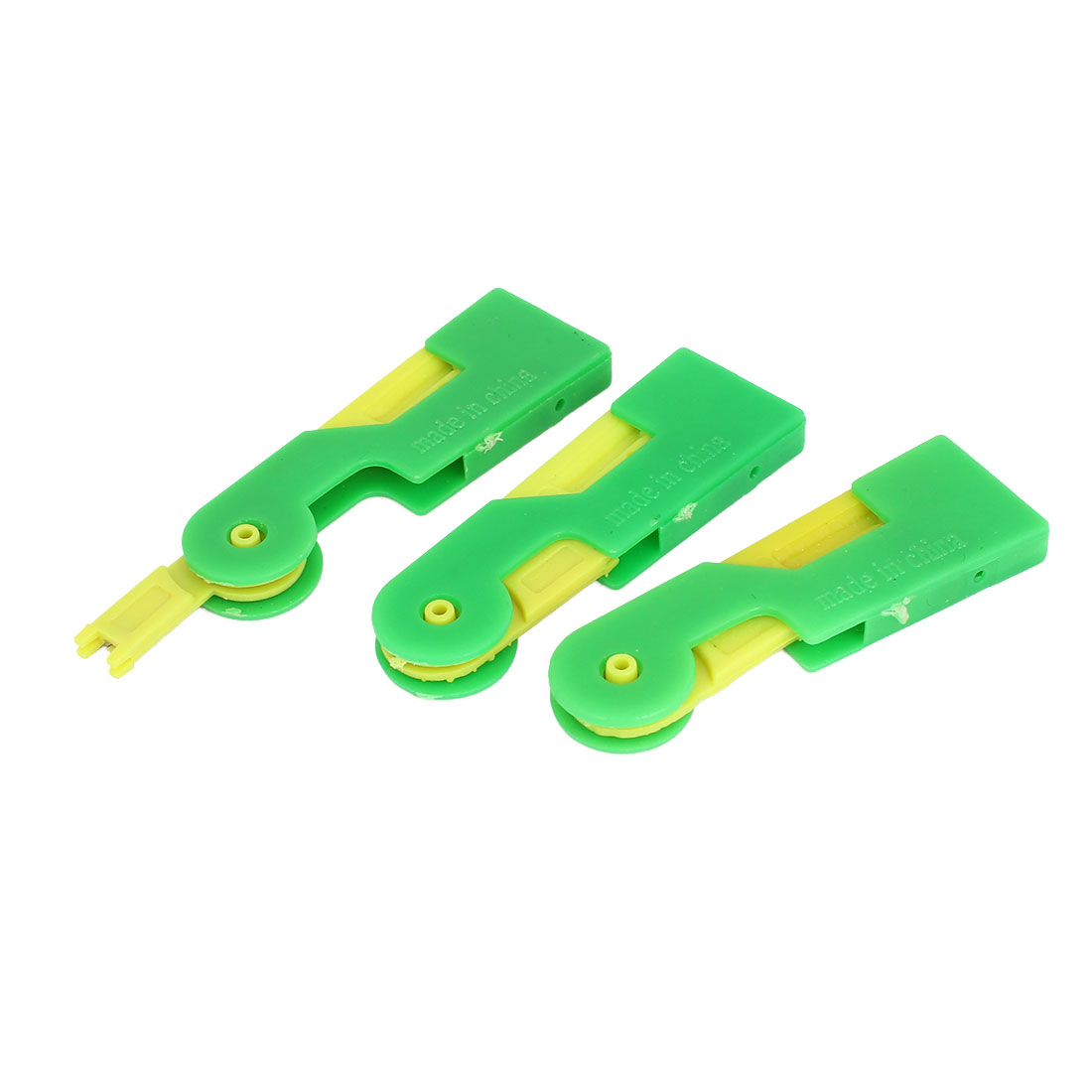 3pcs Plastic Press Button Automatic Sewing Needle Threader Stitch