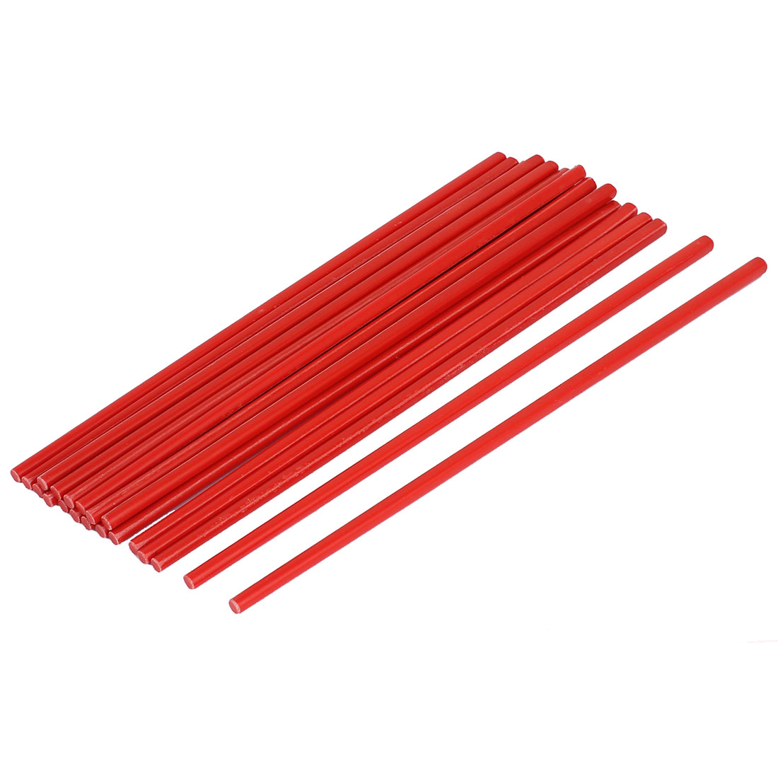 10 Pairs Plastic Chinese Style Dinner Chopsticks 10.7 Inch Length Red