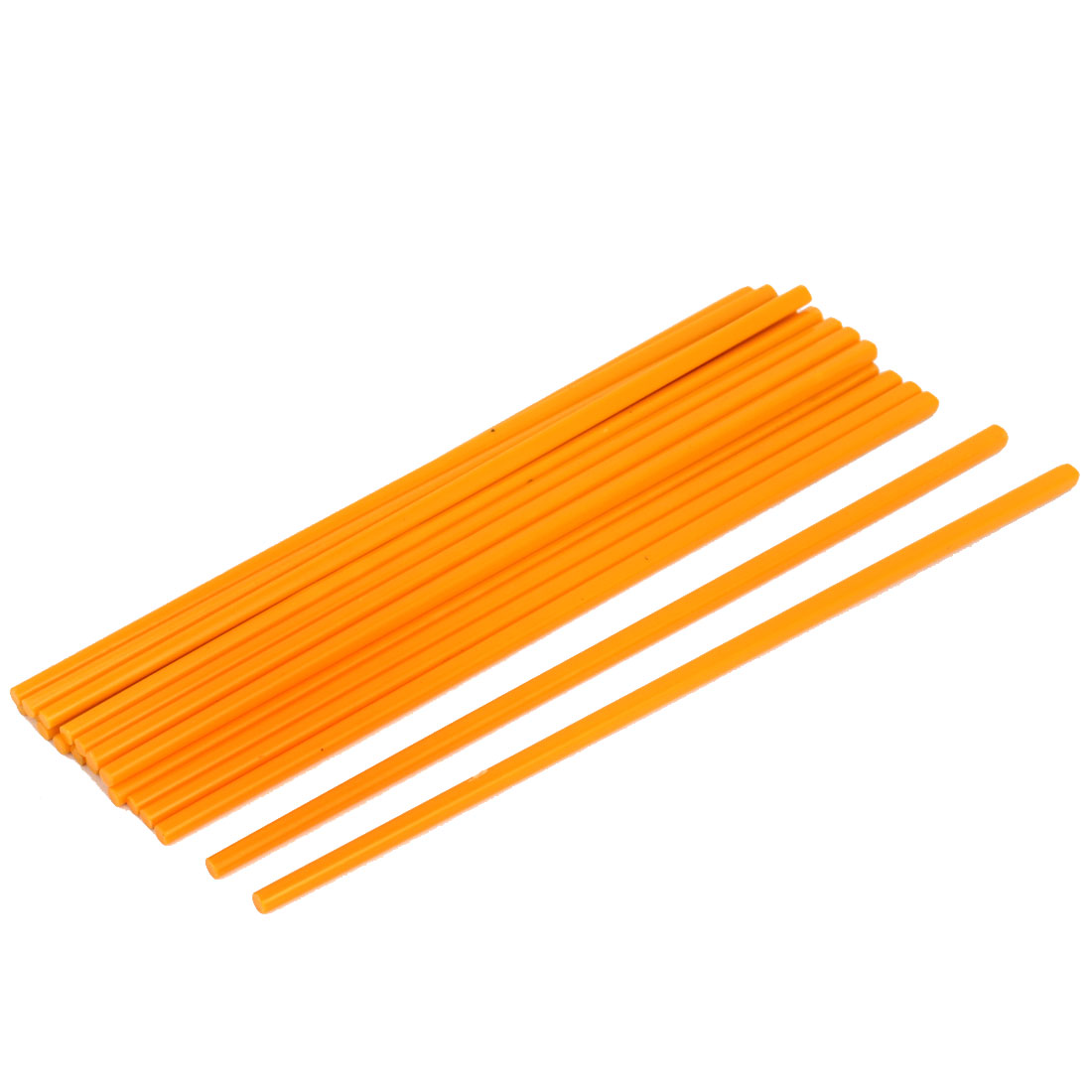 10 Pairs Plastic Chinese Japanese Tableware Dinner Chopsticks Yellow