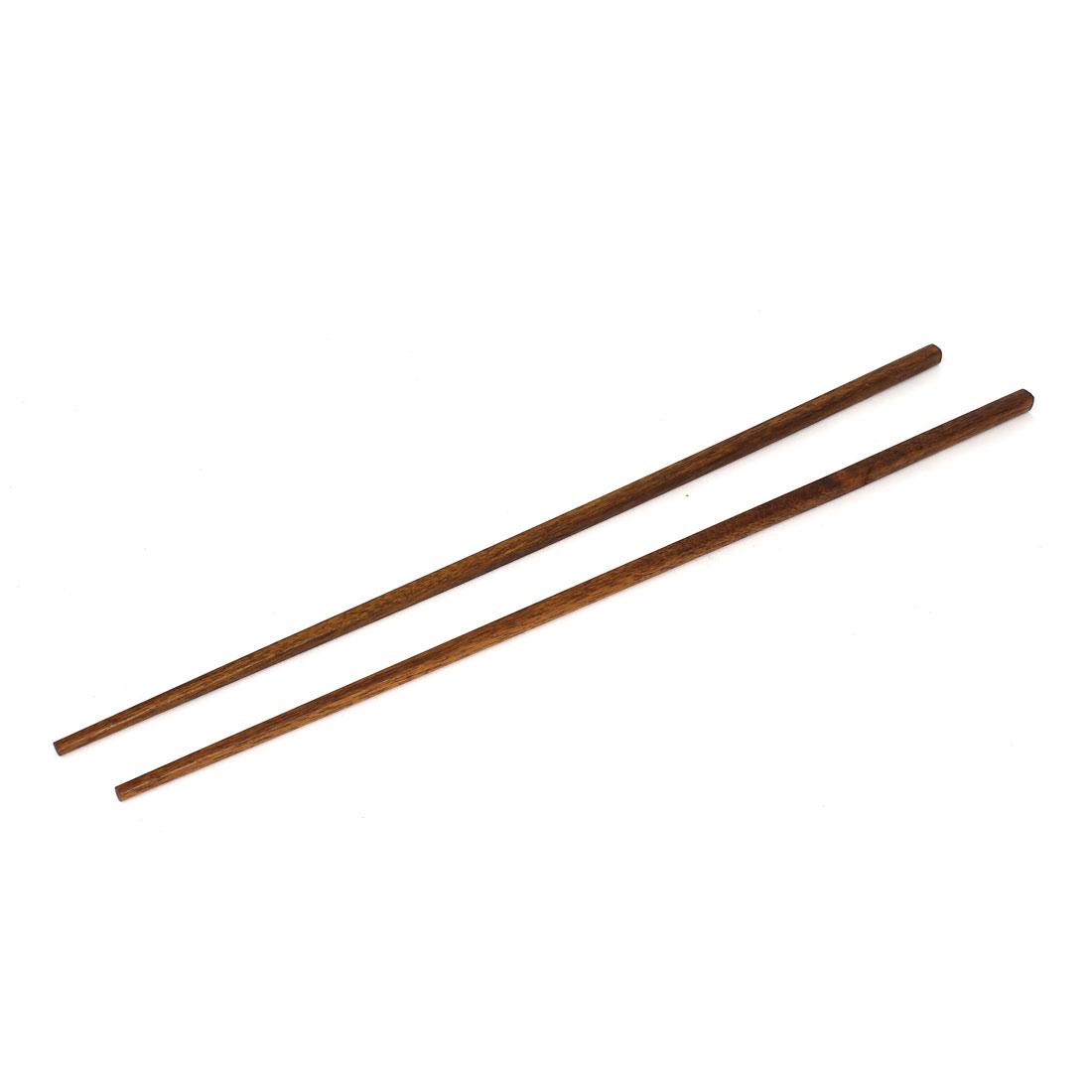 Restaurant Kitchen Hot Pot Chopsticks 16.5 Inch Length Pair Coffee Color