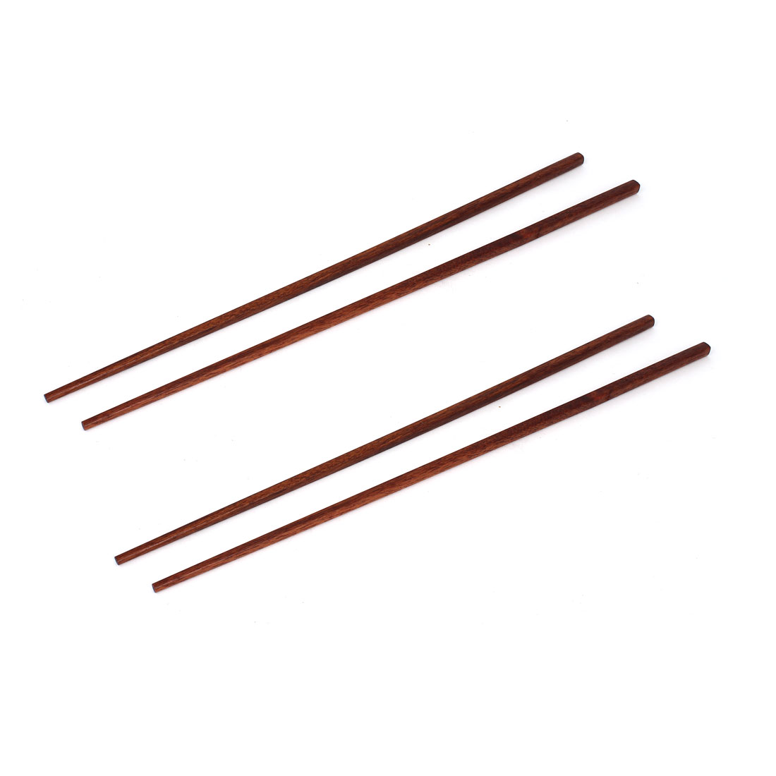 2 Pairs 16.5 Inch Home Kitchen Hot Pot Chopsticks Utensil Coffee Color