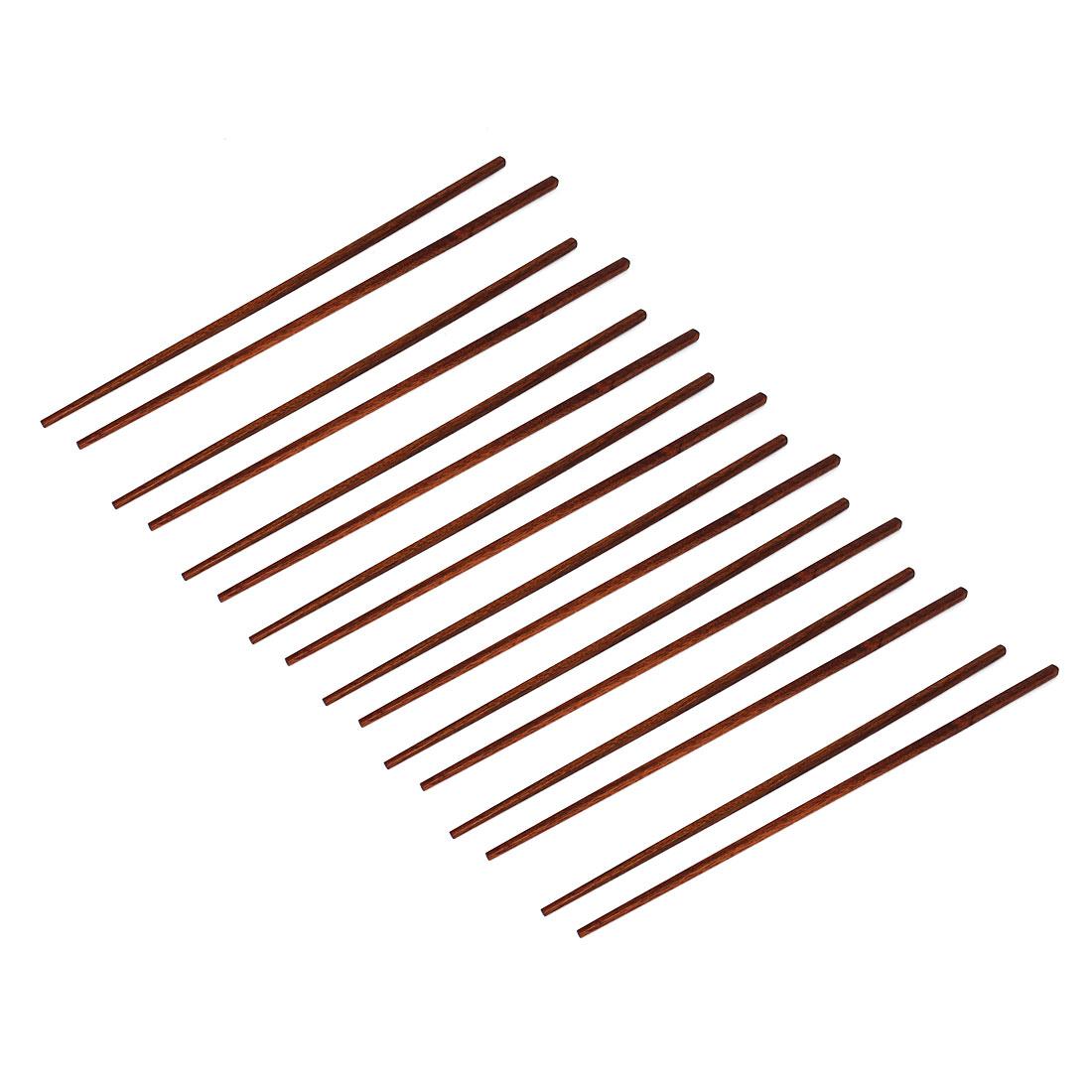8 Pairs Wooden Chopsticks Kitchen Hot Pot Chop Sticks Coffee Color