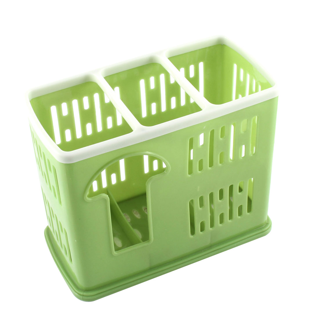 Tableware Chopsticks Spoon Multifunctional Hollow Out Case Holder Green