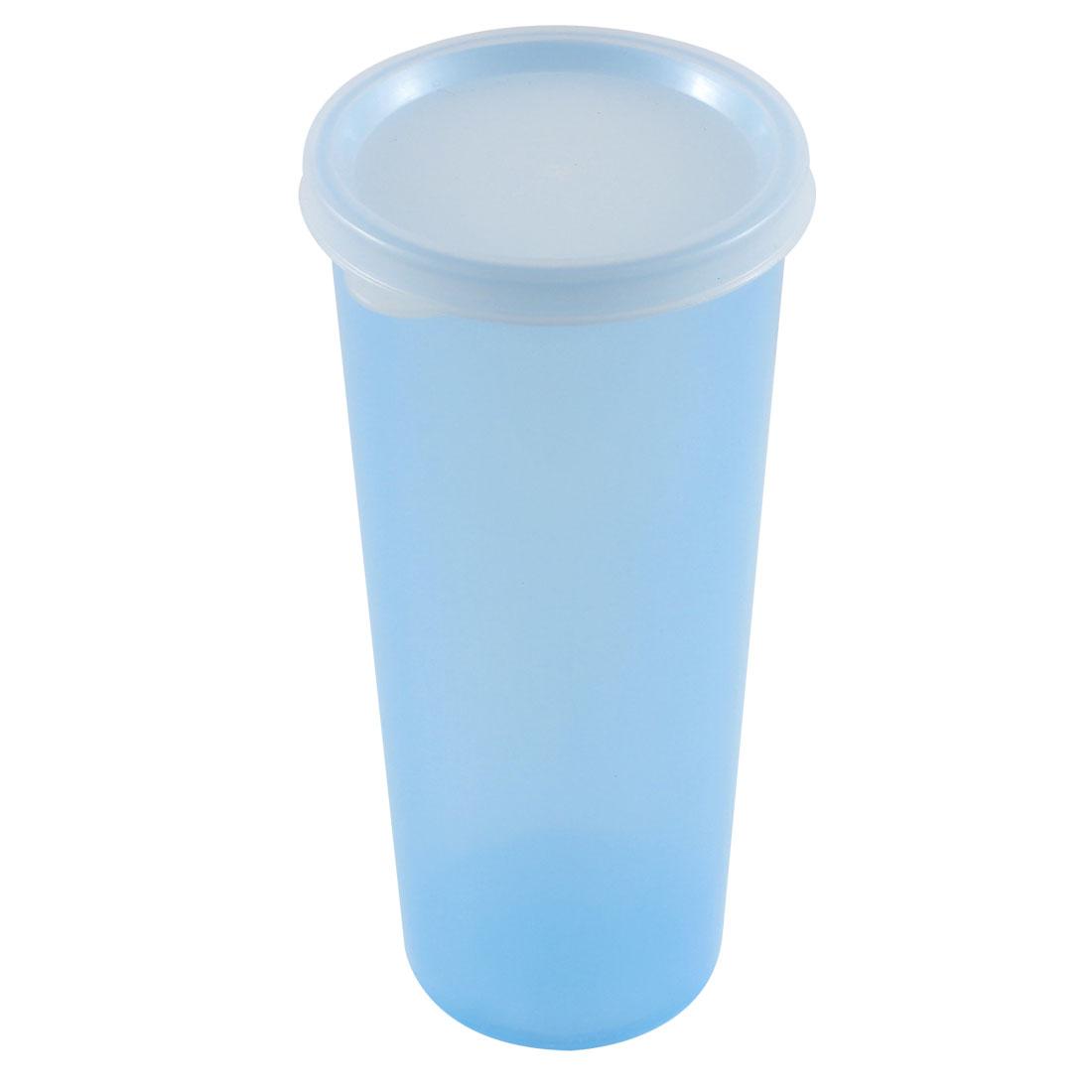 Plastic 500mL Capacity Portable Casual Sport Fruit Juice Water Cup Bottle Blue