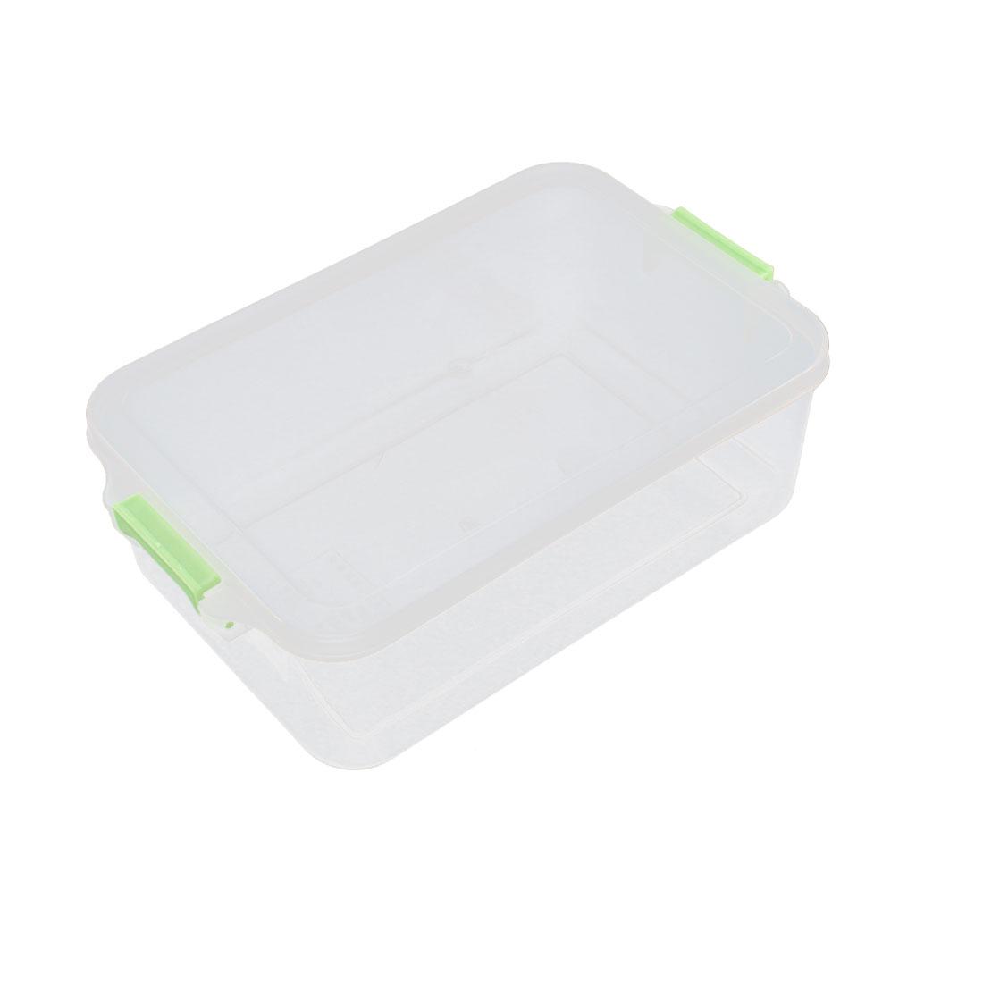 Heat Resistance 120 Degree Bento Crisper Case Food Storage Box Green Clear