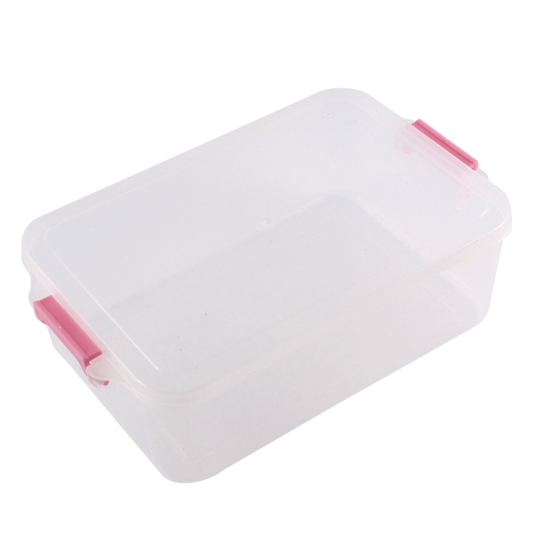 Cold Resistance Multifunctional Bento Crisper Case Food Storage Box Pink Clear