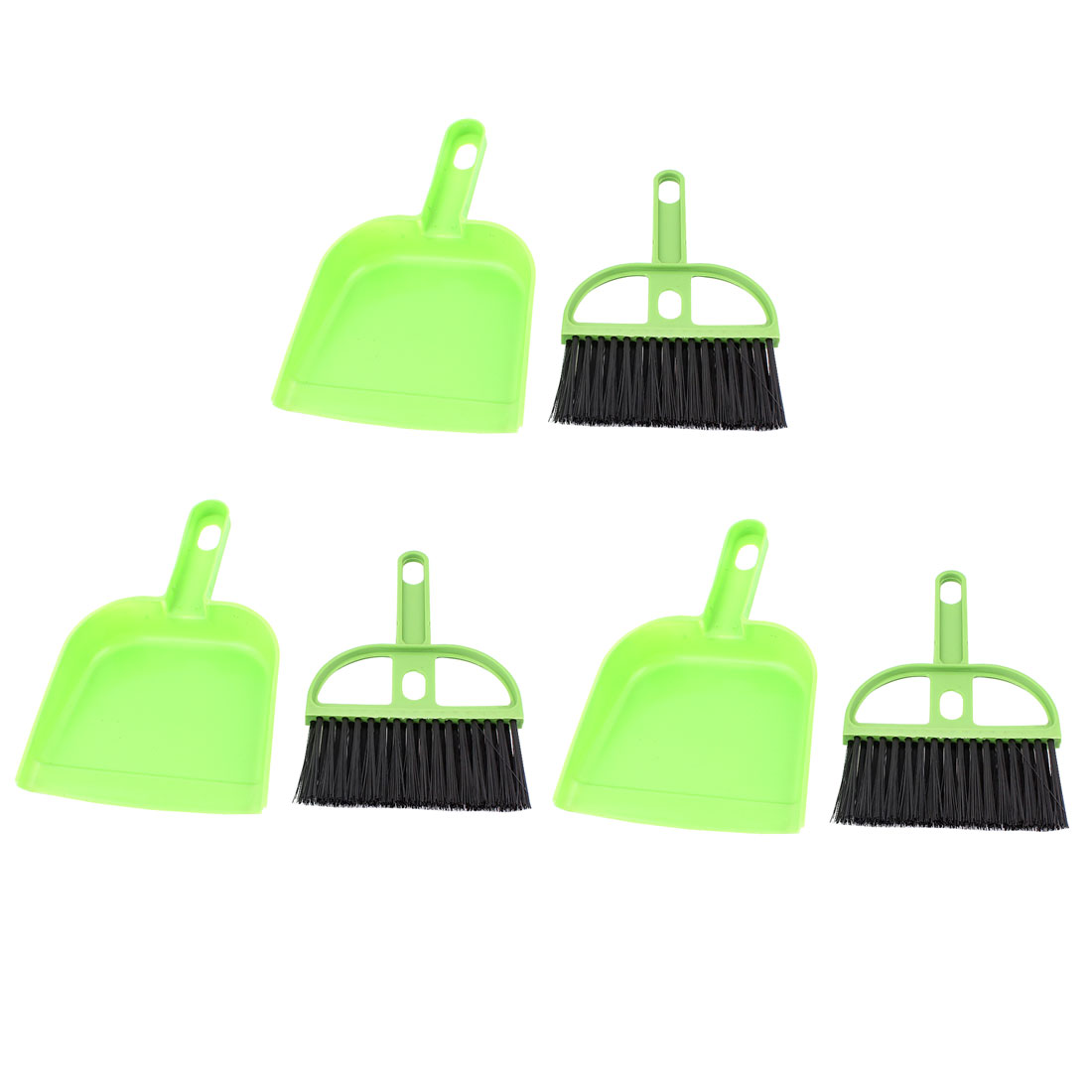 3 Pcs Portable PC Desk Computer Keyboard Duster Cleaning Cleaner Brush Green