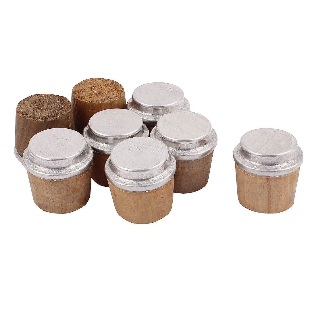 8 Pcs 34mm Bottom Dia Kitchenware Wooden Insulating Bottle Stoppers