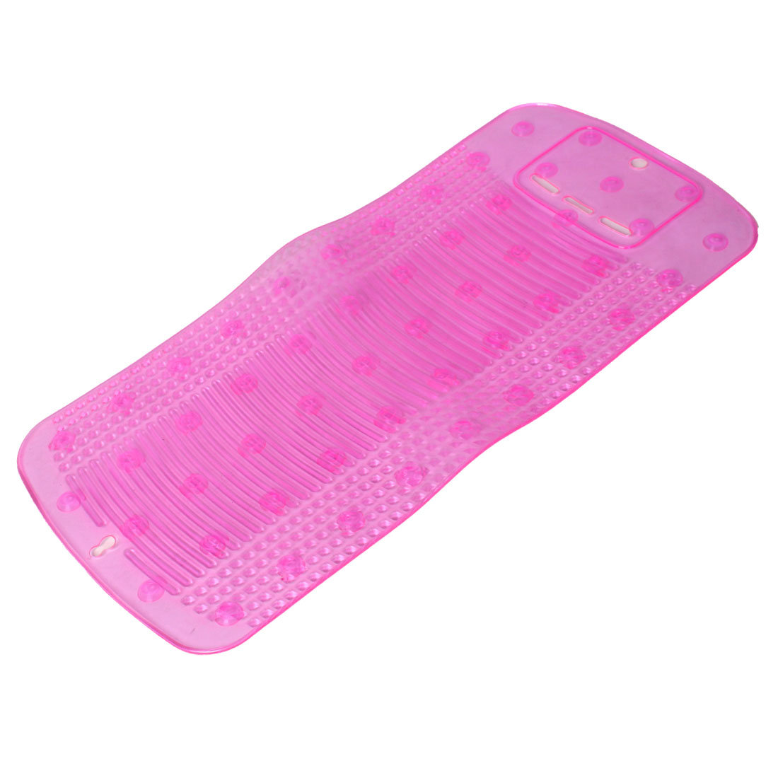 Fuchsia Silicone Rectangle Sucker Up Washboard Clothes Washing Laundry Board for Household
