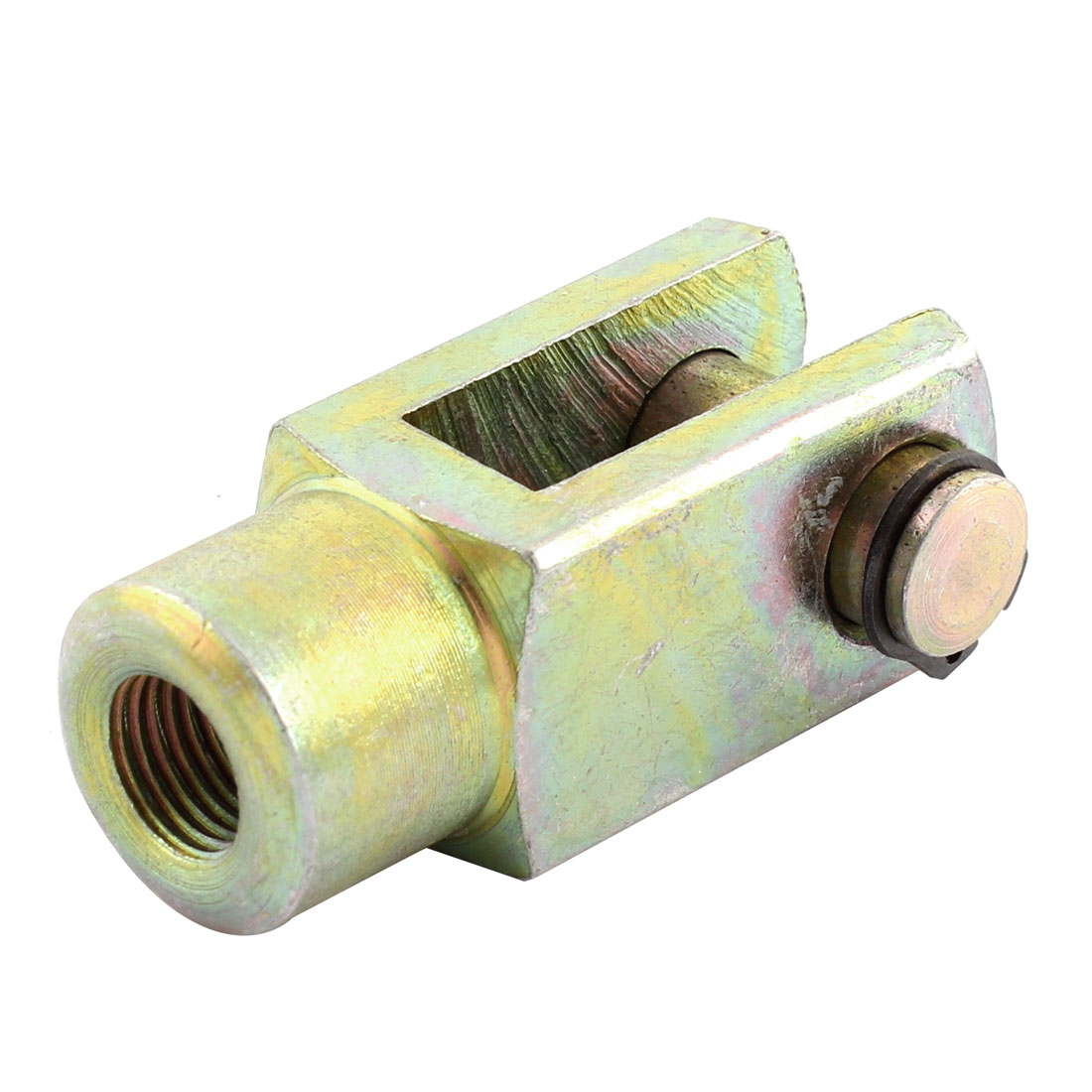 Female Thread Cylinder Rod Clevis End Air Pneumatic Part 8.5mm Bronze Tone