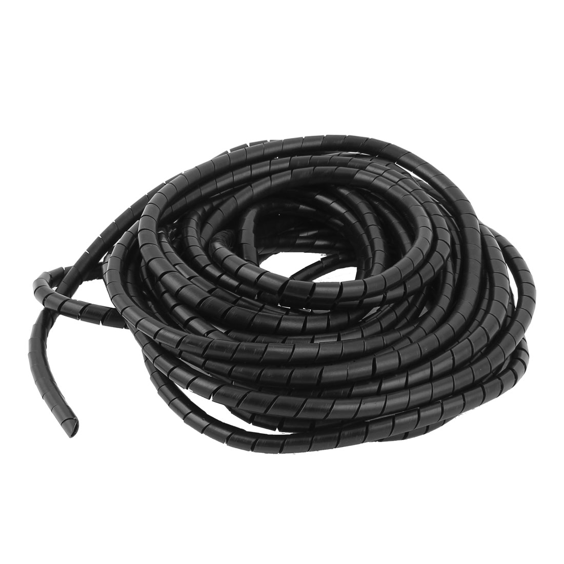 8mm 11.5M Polyethylene Computer Manage Cord Spiral Cable Wire Wrap Tube