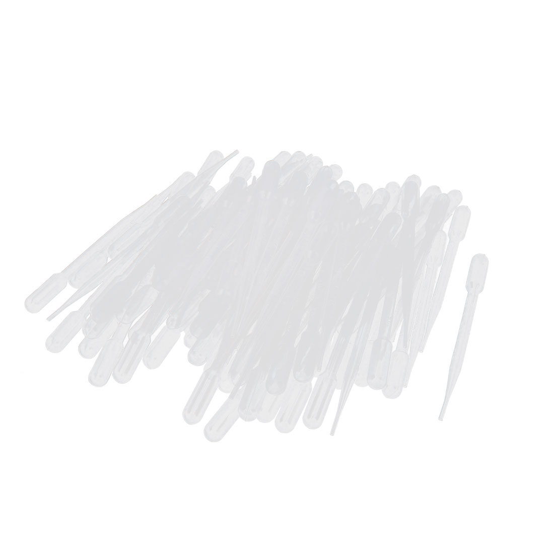 100 Pcs 3ML Disposable Plastic Eye Dropper Graduated Liquid Transfer Pipettes