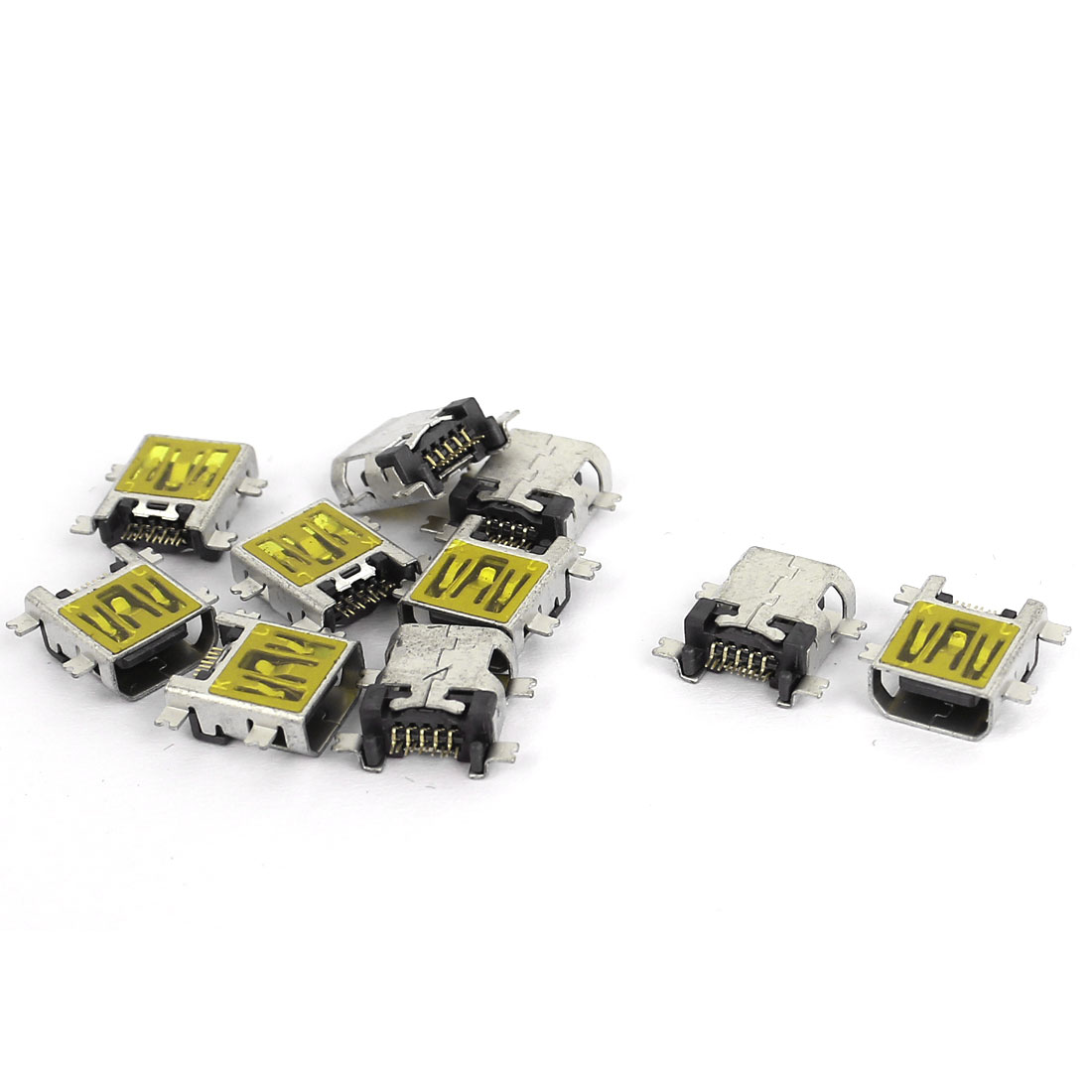 10pcs SMT SMD 10-Pins Mini USB Jack Type B Female Socket PCB Connector