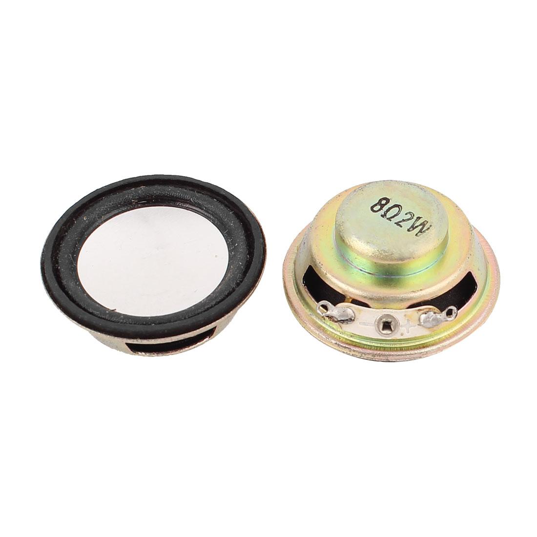 2pcs 36mm 8Ohm 2W Round Internal Magnetic Speaker Loudspeaker
