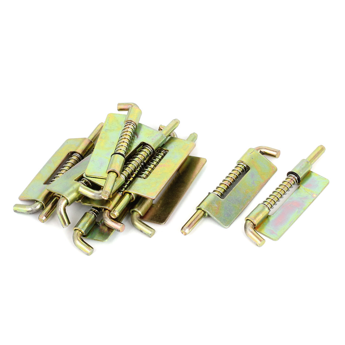 Door Spring Loaded Weld on Metal Barrel Bolt Right Type Latch Bronze Tone 10pcs