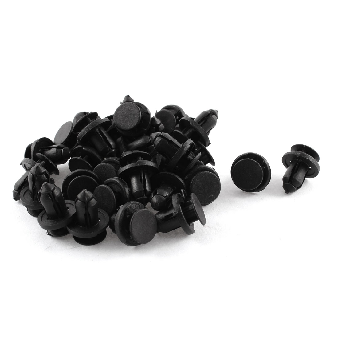 30 Pcs Black Plastic Rivet Push-Type Fastener Clips 8mm x 14mm x 16mm for Honda