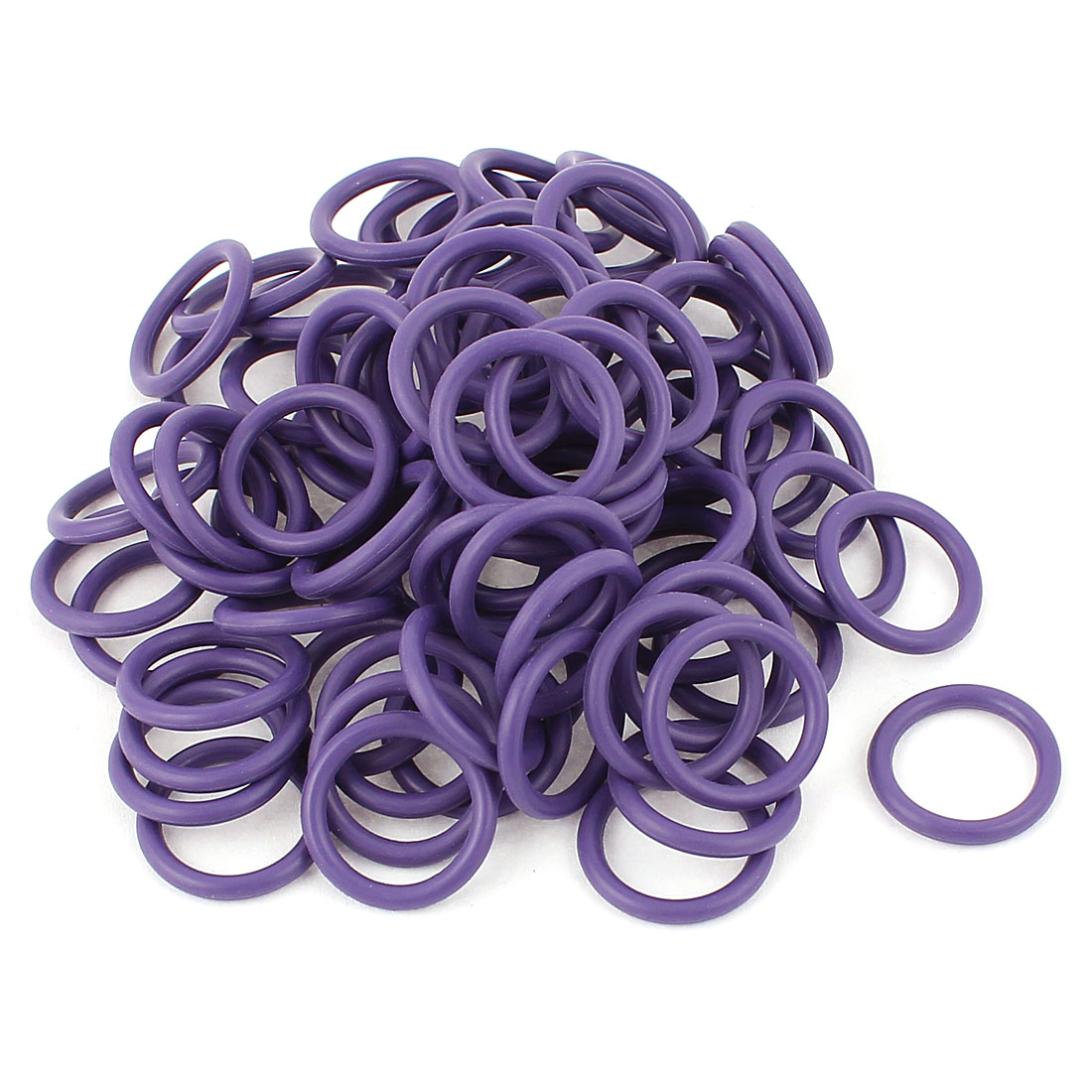 100 Pcs Rubber Gasket Ring Purple O-ring Seals 18.6mm x 13.8mm x 2.4mm