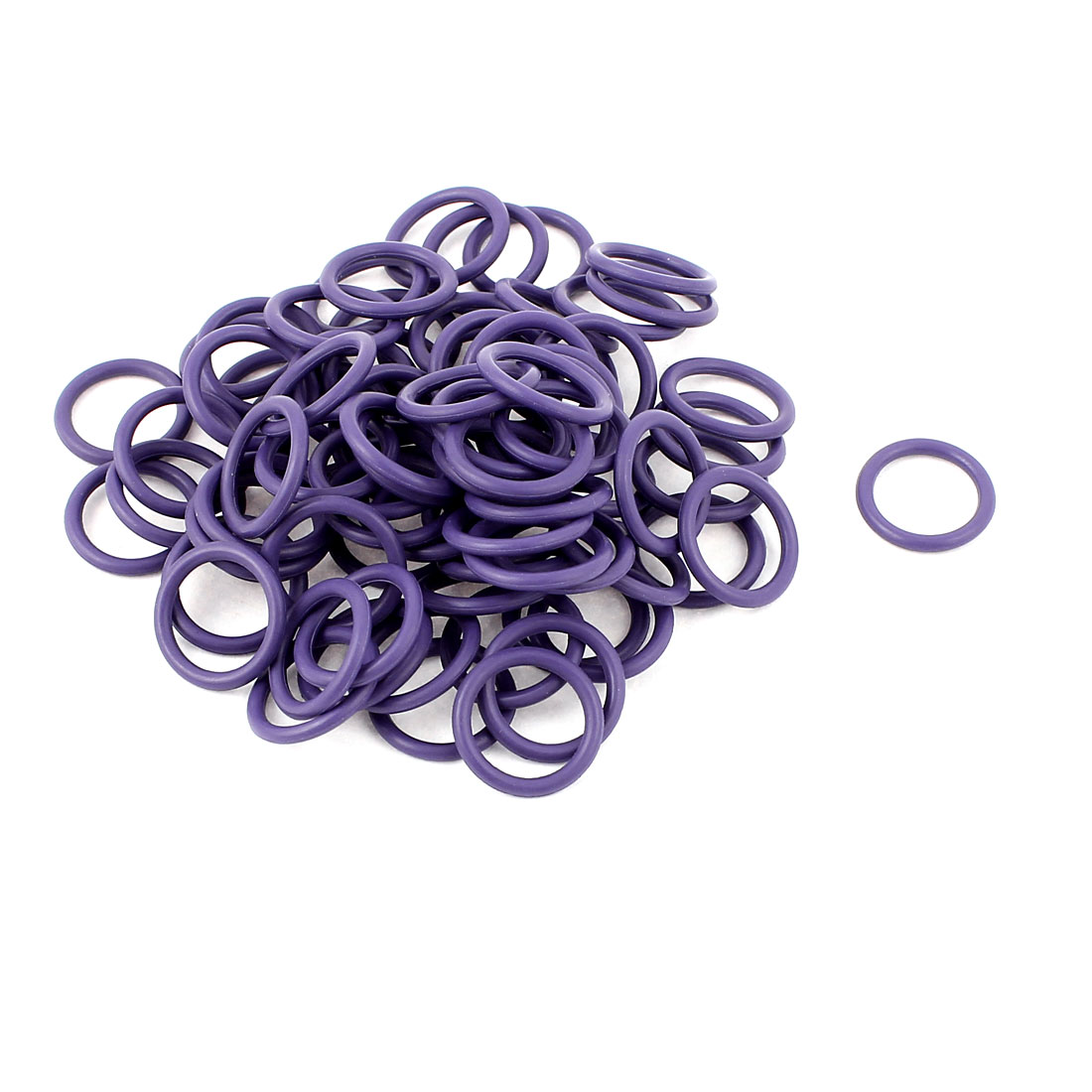 100 Pcs Rubber Gasket Ring Purple O-ring Seals 14.38mm x 10.82mm x 1.78mm