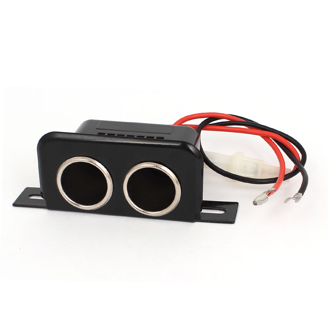 12v Female Car Cigarette Lighter Double Socket Connector Adapter