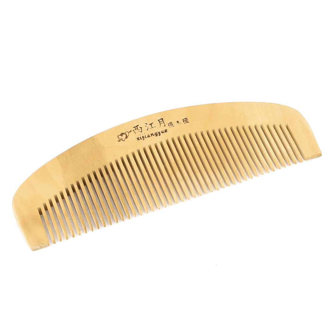 Wood Color Hairdressing Tool Massage Wide Toothed Wooden Hair Comb for Lady