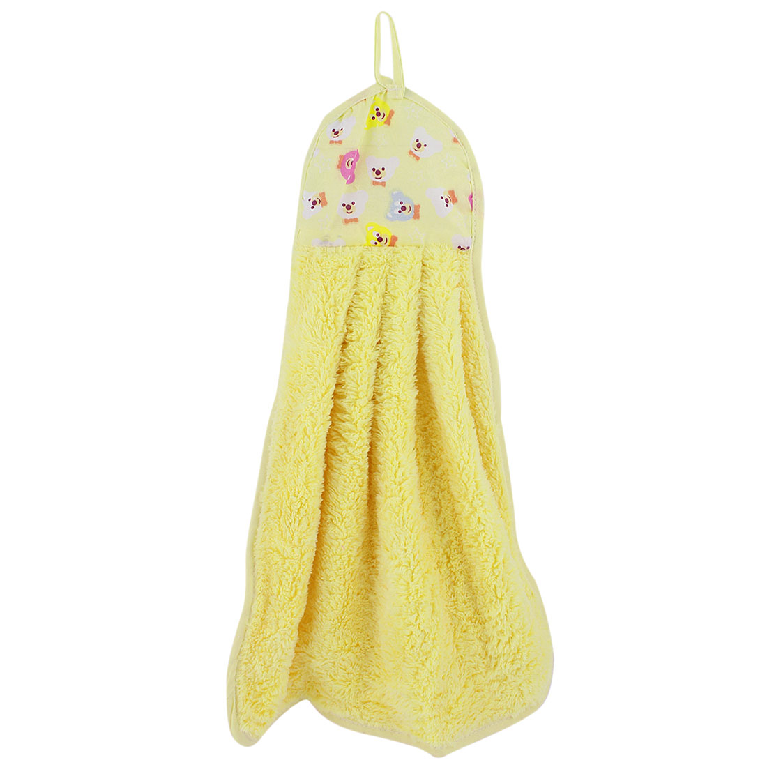 Bathroom Kitchen Yellow Animal Pattern Wall Hanging Cleaning Hand Drying Towel Washcloth