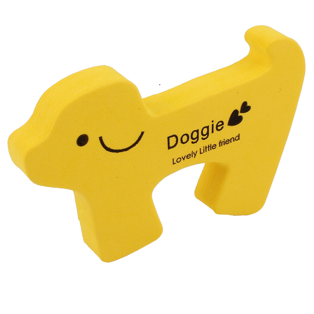 Yellow Foam Cartoon Doggie Design Baby Safety Door Stopper Cushion