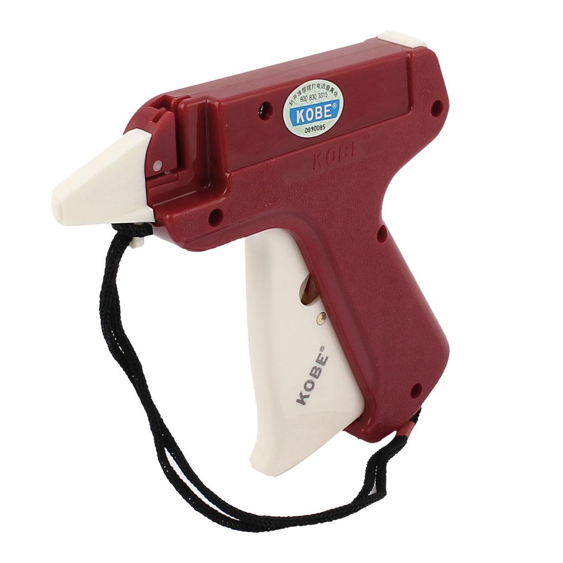 White Red Plastic Garment Price Labelling KOBE Tagging Gun w Lifting Rope