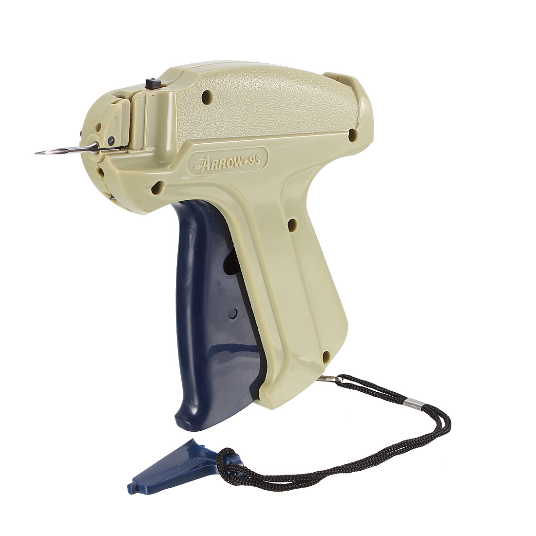 9S Gray Yellow Plastic Garment Price Labelling Tagging Gun w Lifting Rope